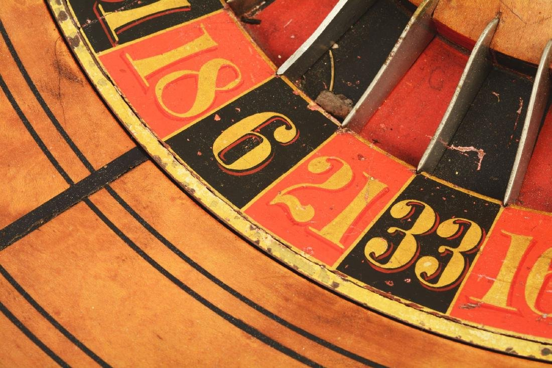 Table Top Mahogany Roulette Wheel. - 9