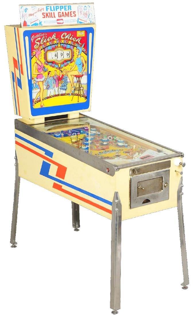 5¢ Gottlieb's Slick Chick Pinball Machine.