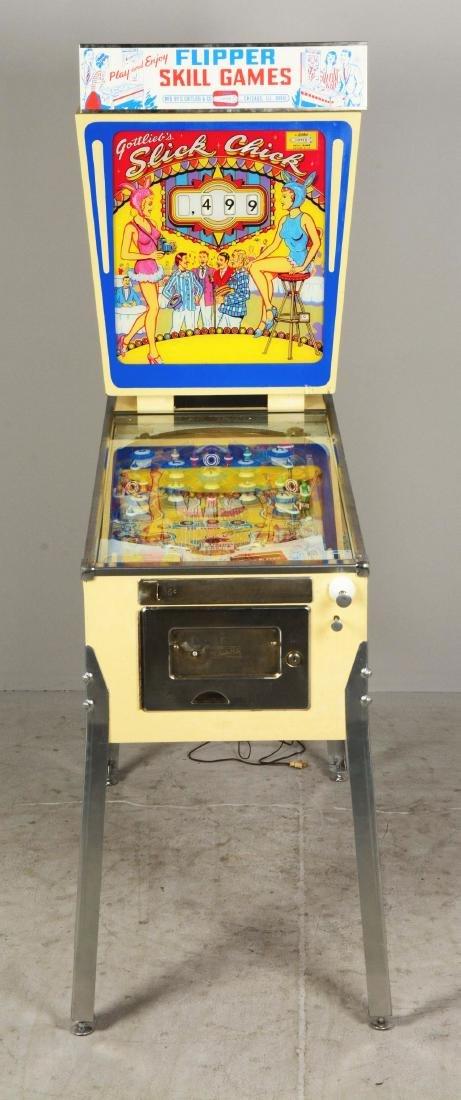 5¢ Gottlieb's Slick Chick Pinball Machine. - 3