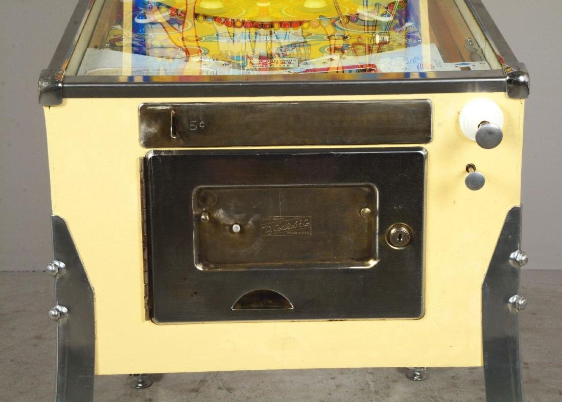 5¢ Gottlieb's Slick Chick Pinball Machine. - 5