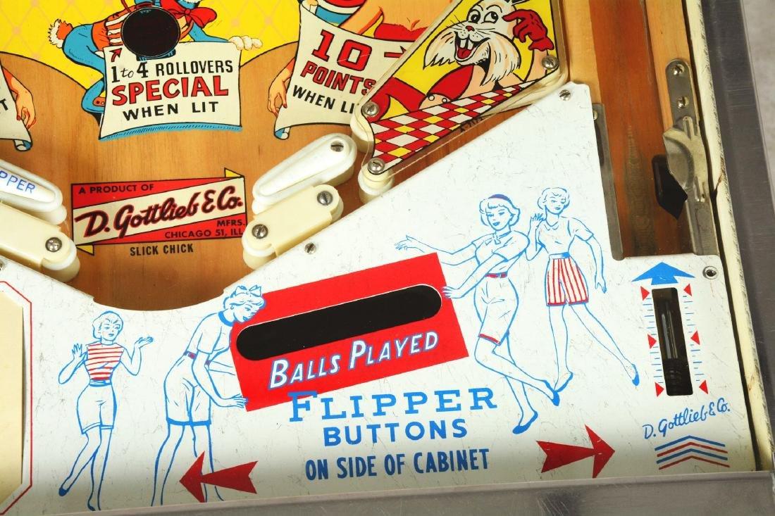 5¢ Gottlieb's Slick Chick Pinball Machine. - 7
