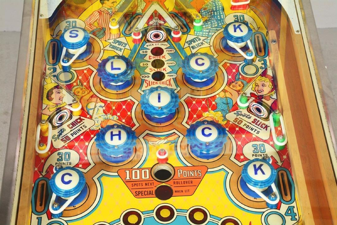 5¢ Gottlieb's Slick Chick Pinball Machine. - 9