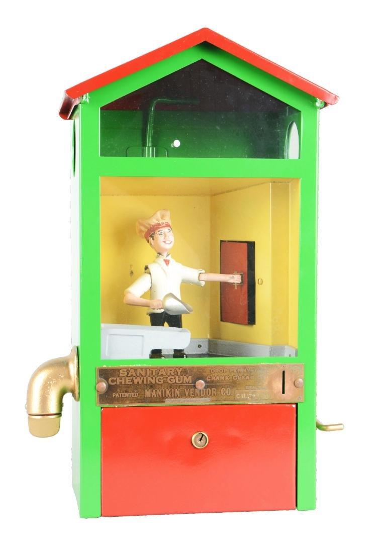 1¢ Manikin Vendor Co. Baker Boy Gum Ball Vending
