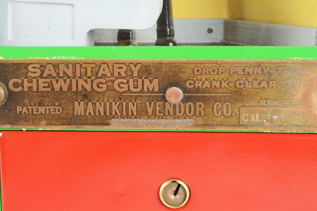 1¢ Manikin Vendor Co. Baker Boy Gum Ball Vending - 3