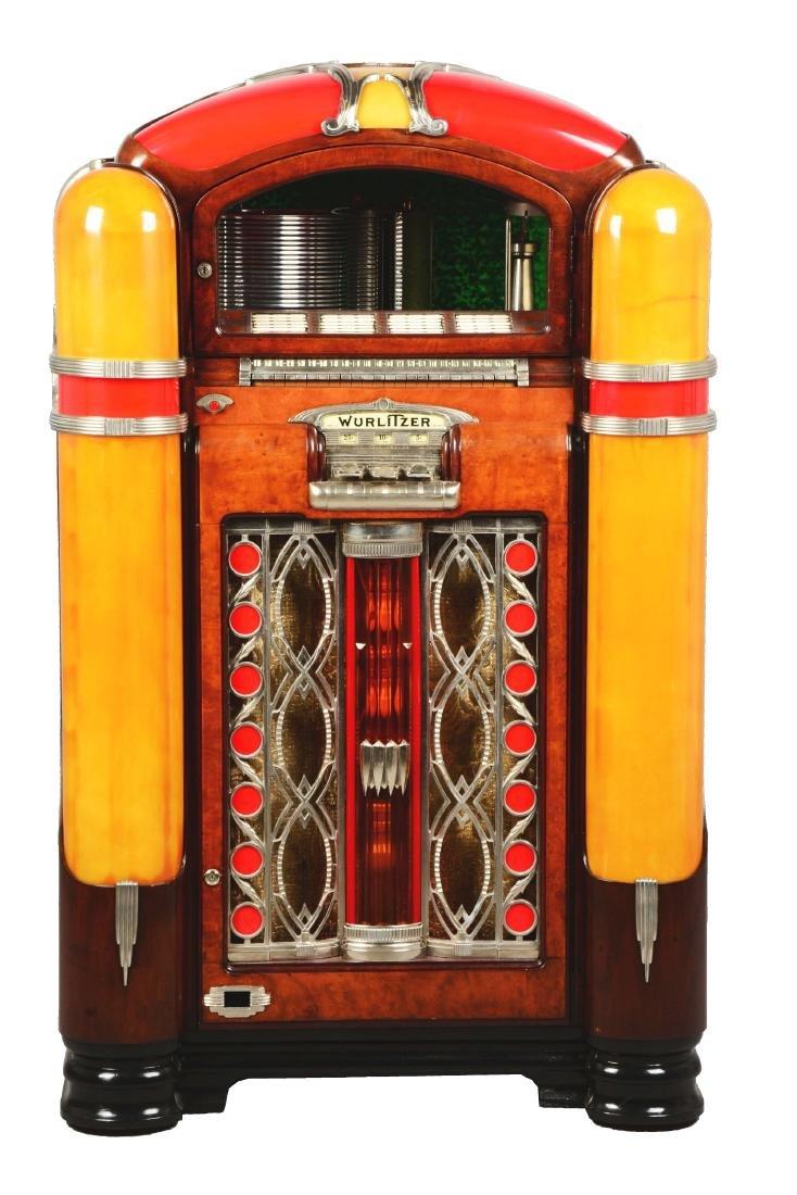 Multi-Coin Wurlitzer Model 800 Phonograph Jukebox.