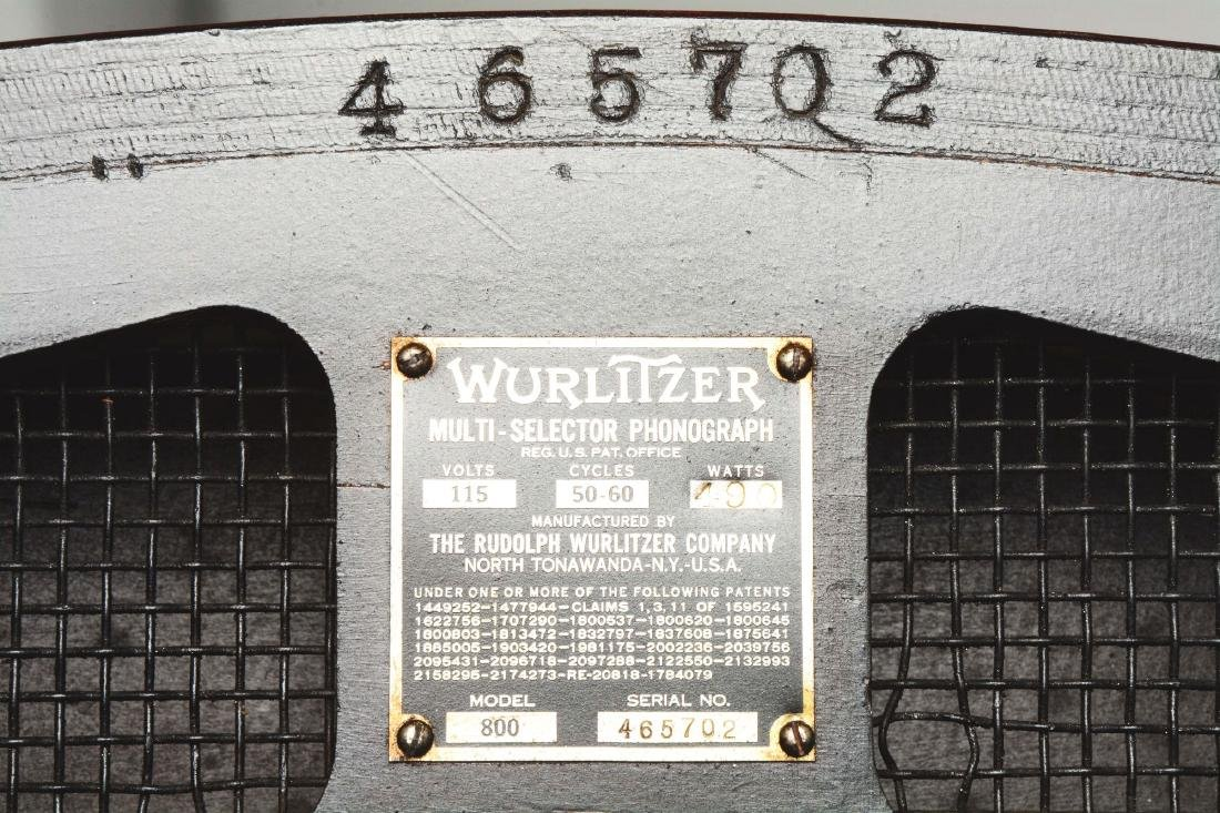 Multi-Coin Wurlitzer Model 800 Phonograph Jukebox. - 8