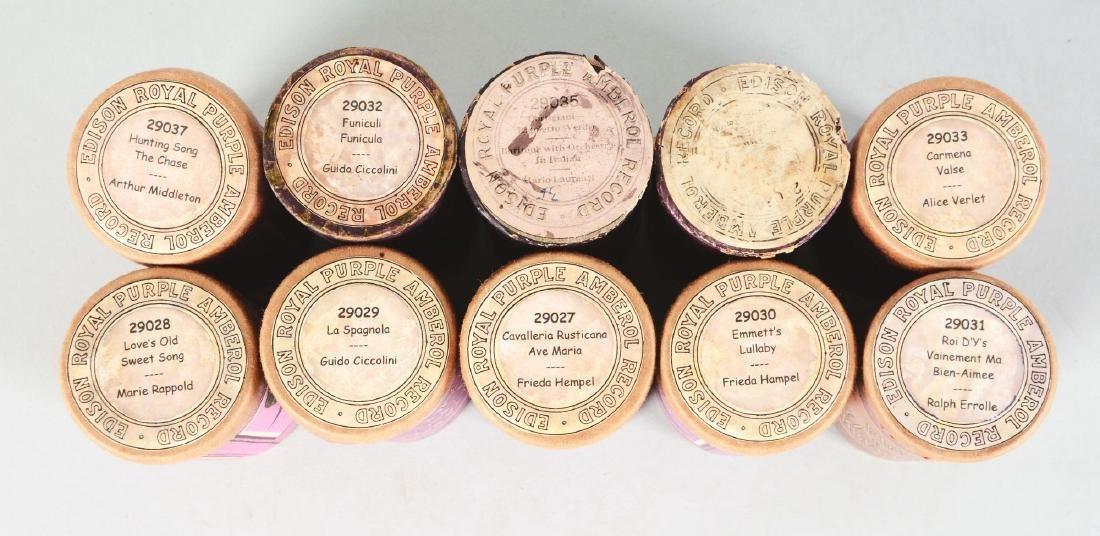 Lot Of 10: Edison Royal Purple Amberol Cylinder Record. - 2