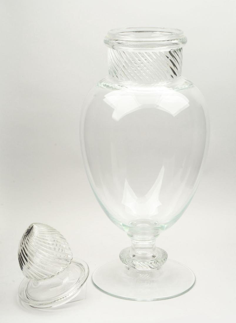 Large Columbia Pear Jar Candy Container. - 2