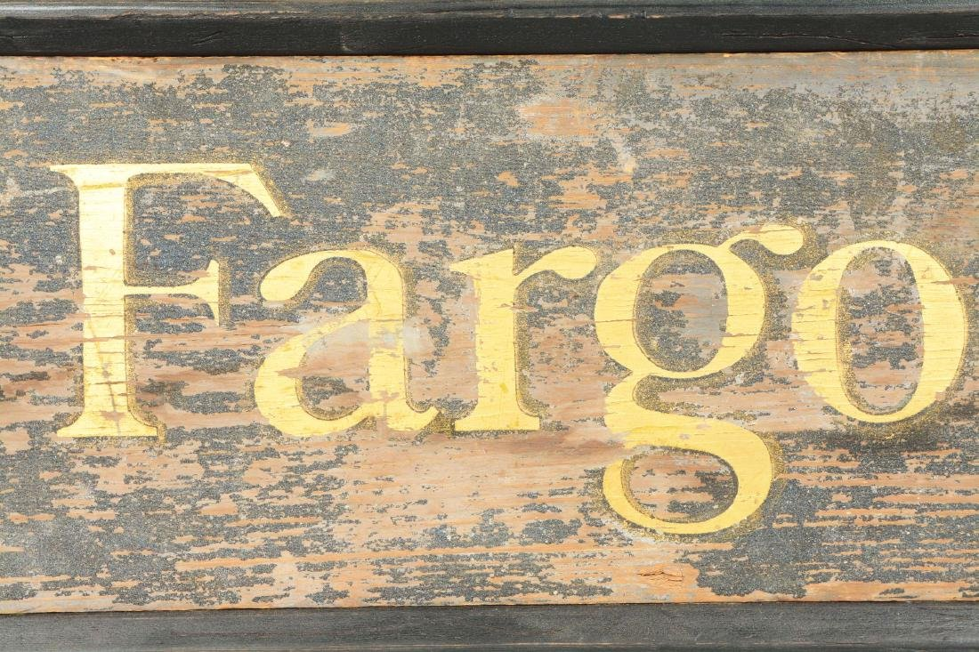 Wooden Wells Fargo & Co. Express Sign. - 4
