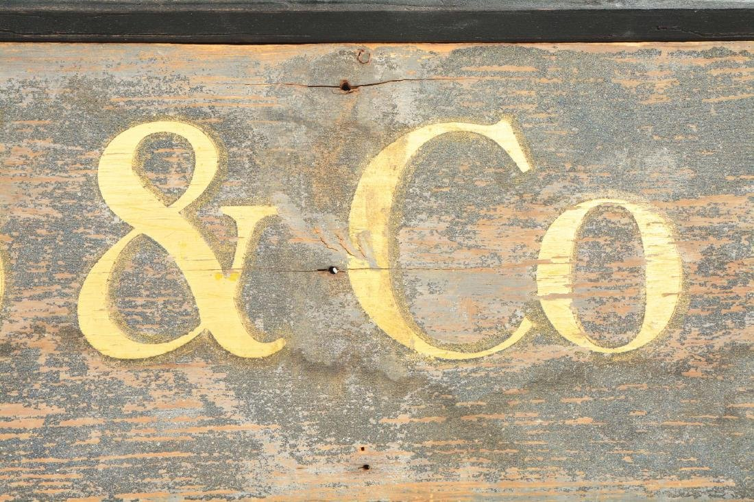 Wooden Wells Fargo & Co. Express Sign. - 5