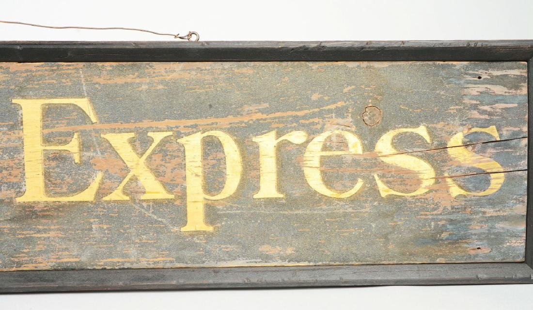 Wooden Wells Fargo & Co. Express Sign. - 6