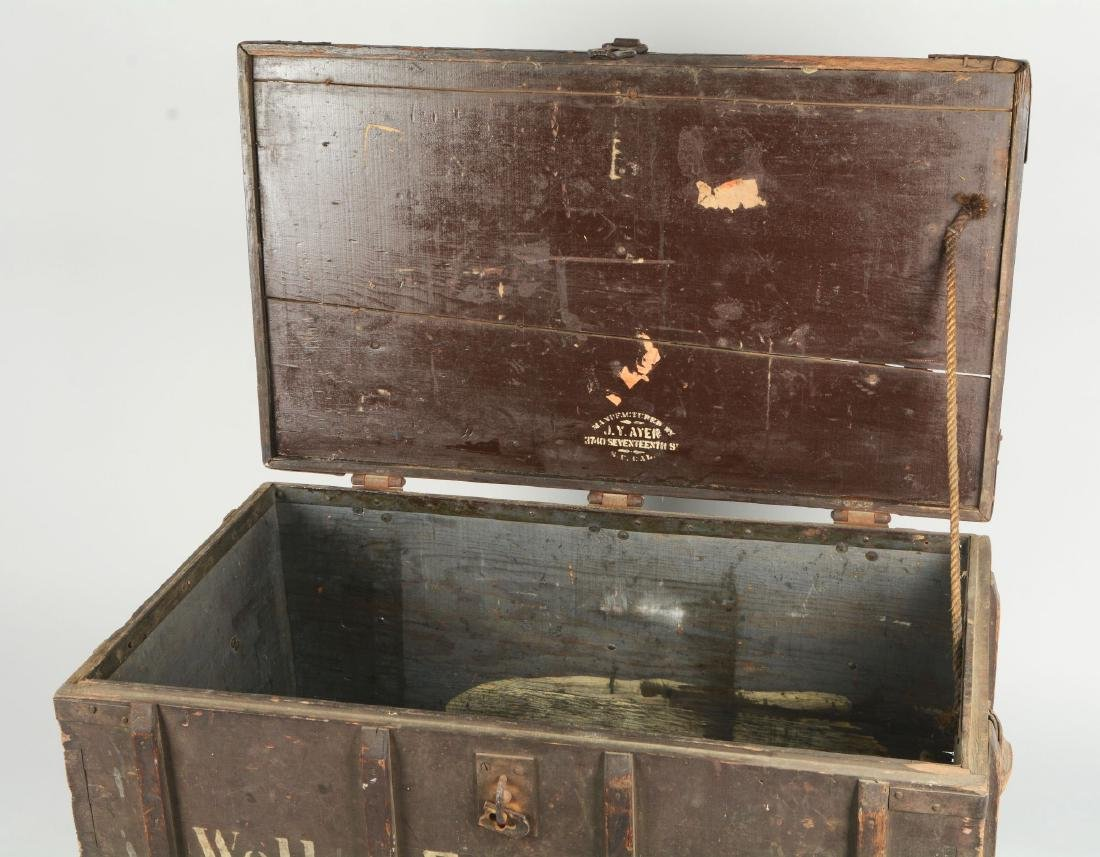Large Wells Fargo Packing Trunk. - 11