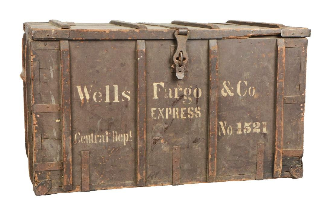 Large Wells Fargo Packing Trunk.