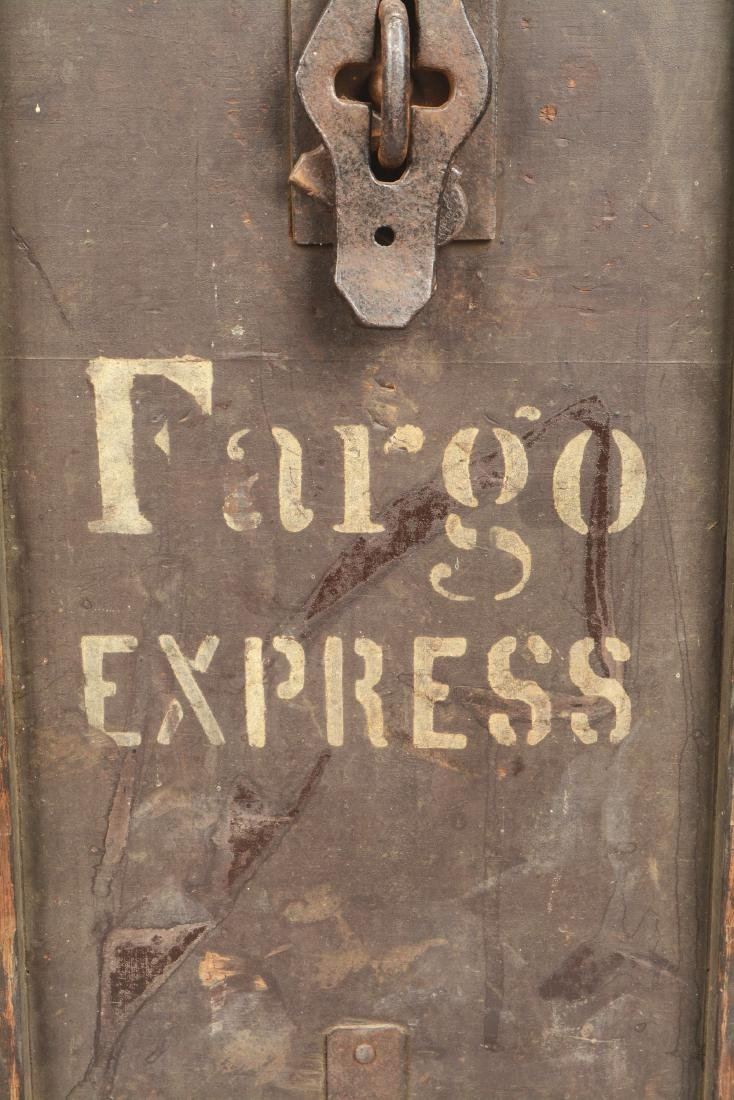 Large Wells Fargo Packing Trunk. - 5