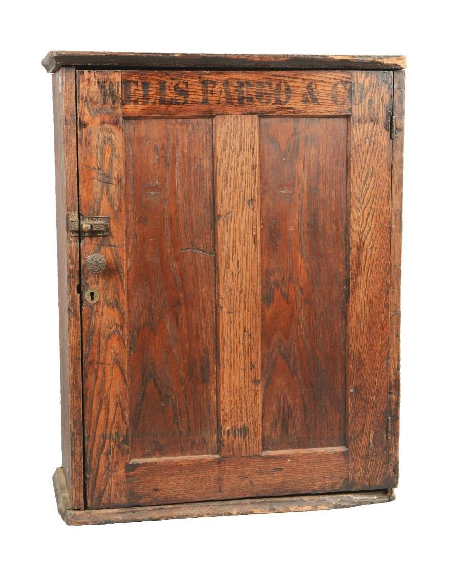 Oak Wells Fargo Stationary Cabinet.