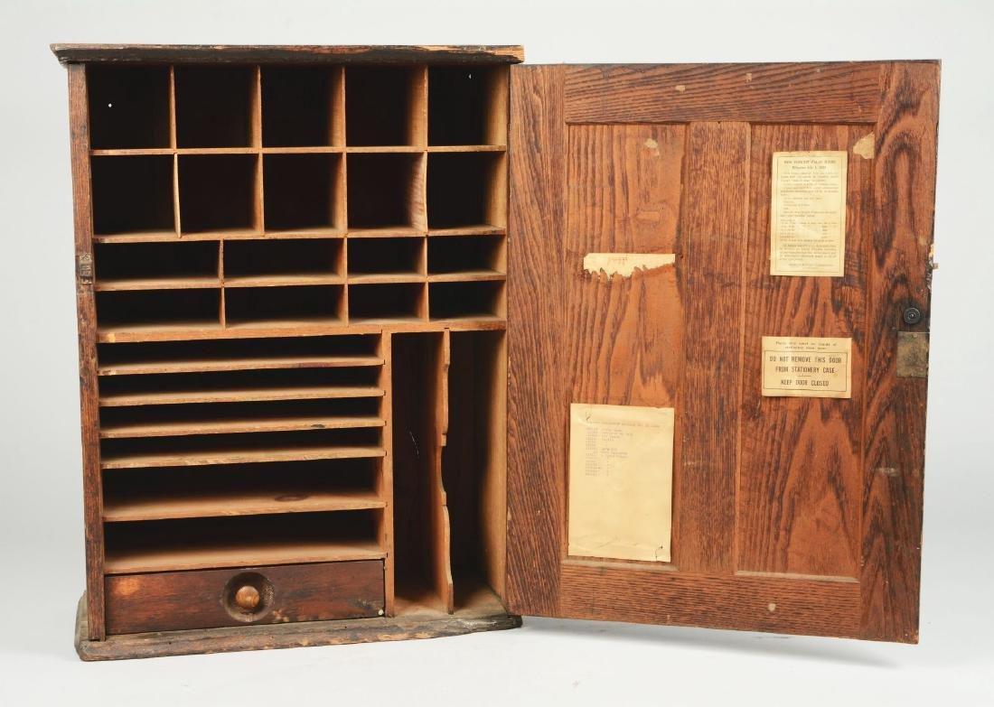 Oak Wells Fargo Stationary Cabinet. - 5