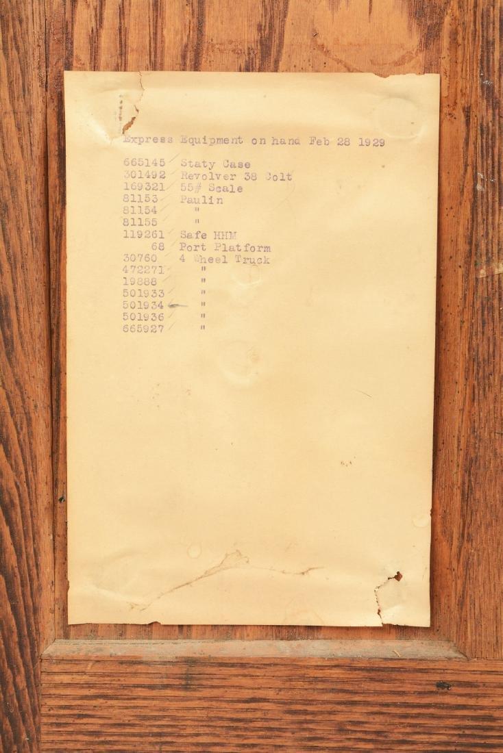 Oak Wells Fargo Stationary Cabinet. - 6