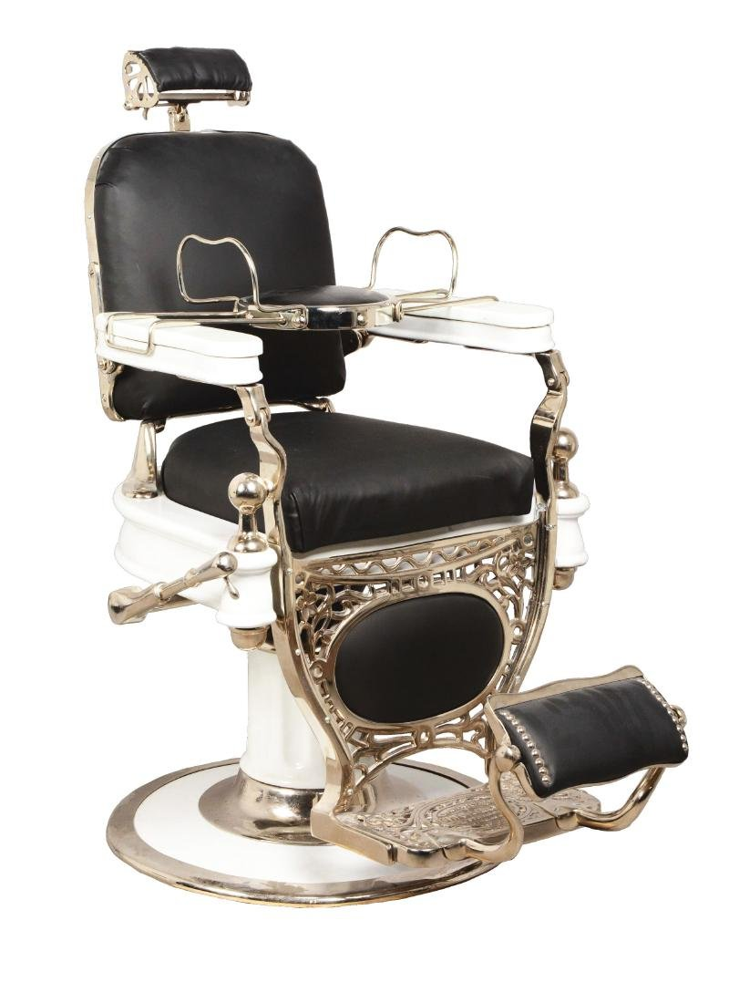 Theo Koch 1910 Barber Chair With Children Seats.