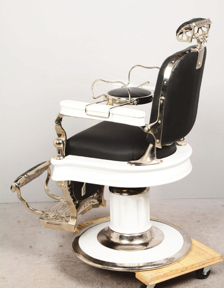 Theo Koch 1910 Barber Chair With Children Seats. - 3