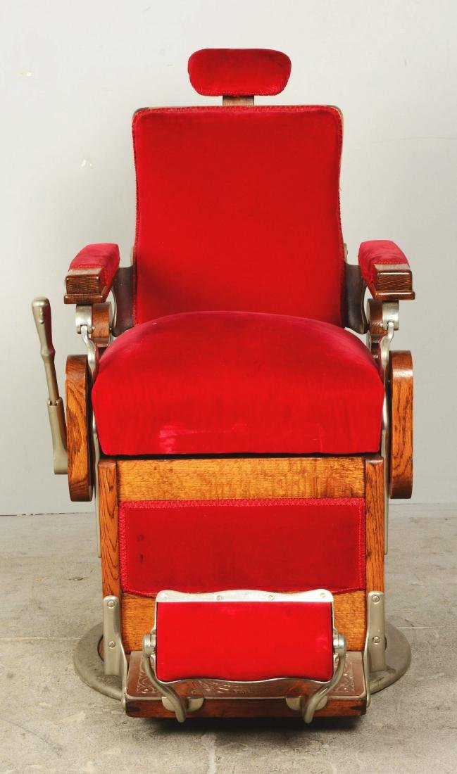 Theo A. Kochs Barber Chair. - 2