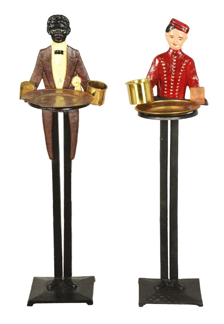 Lot Of 2: Figural Butler Smoking Stands.