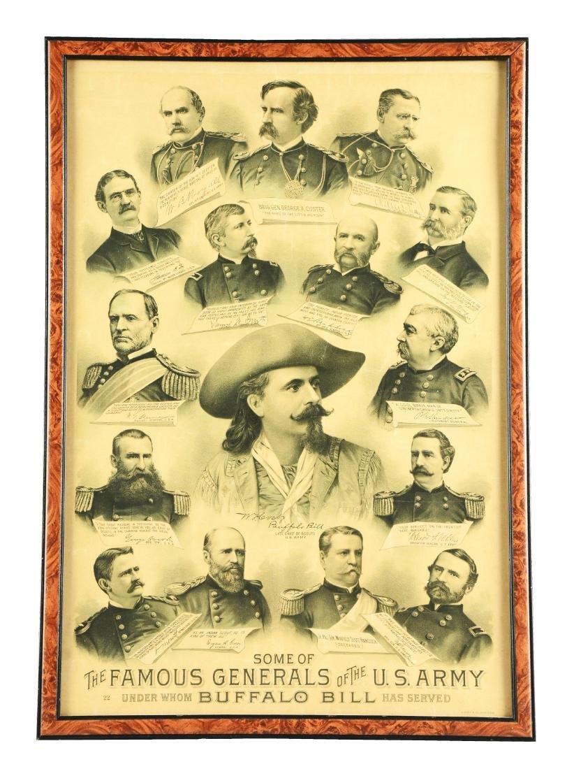 Buffalo Bill Lithograph.