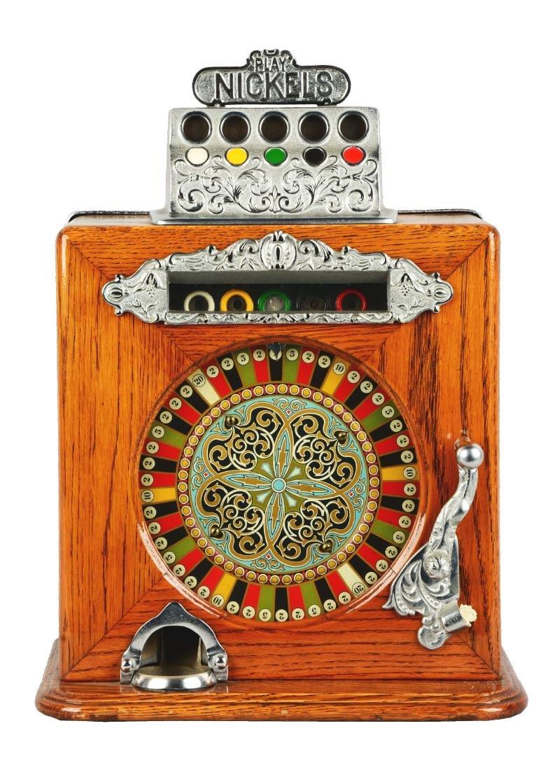**5¢ Caille Ben Hur Counter Wheel Slot Machine.