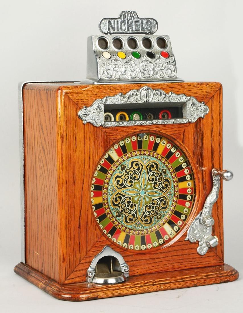 **5¢ Caille Ben Hur Counter Wheel Slot Machine. - 2