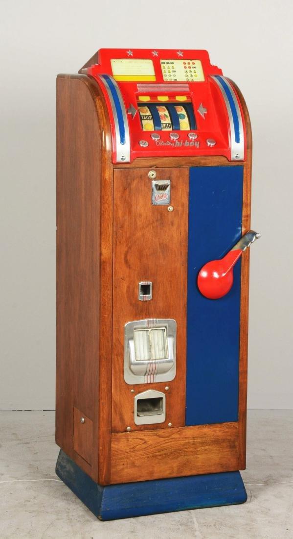 **5¢ Bally Hi-Boy Console Slot Machine. - 2