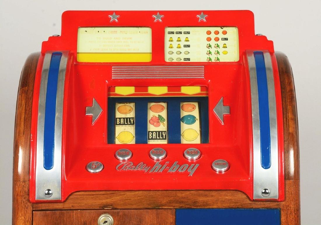 **5¢ Bally Hi-Boy Console Slot Machine. - 4