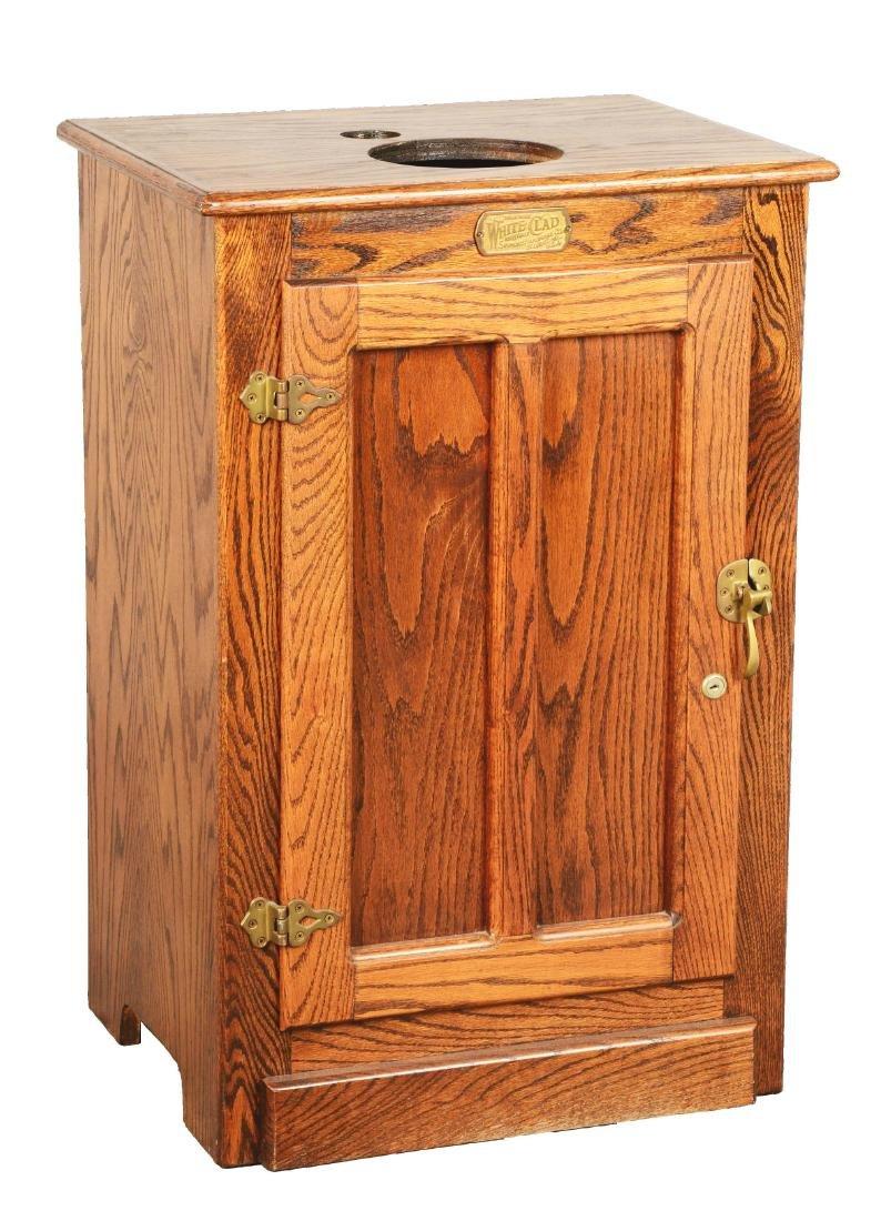 Oak Cabinet Slot Machine Stand.