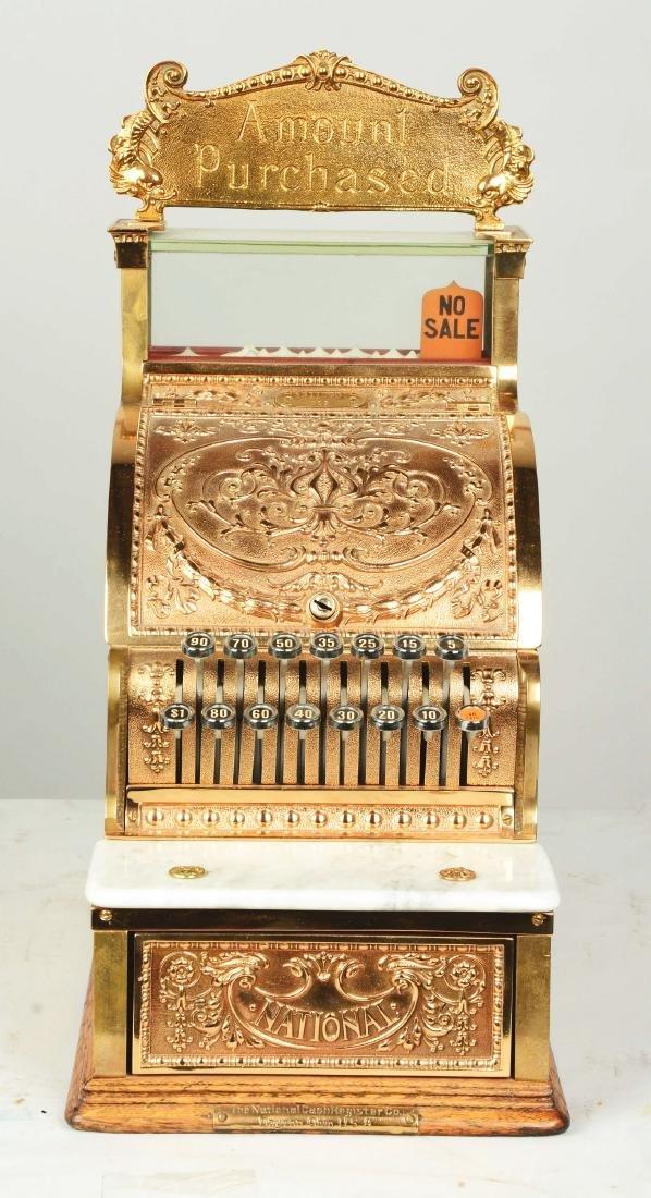 Brass National Cash Register Candy Store Register. - 3