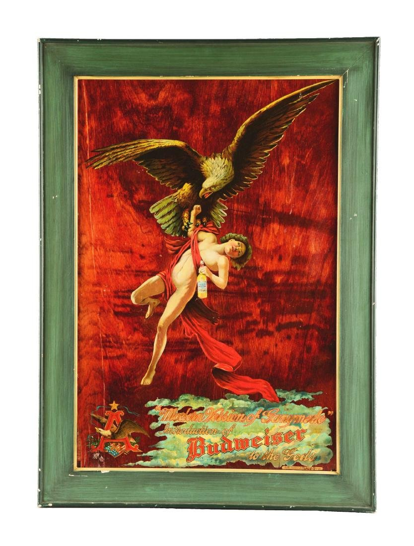 Budweiser Ganymede Advertisement On Wood.