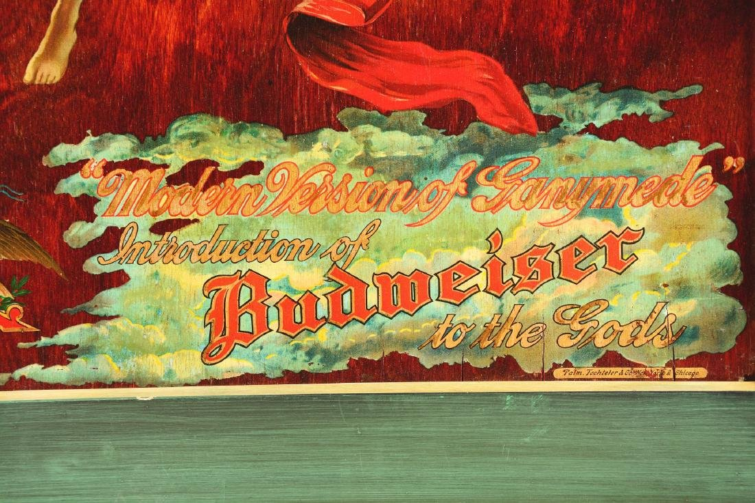 Budweiser Ganymede Advertisement On Wood. - 4