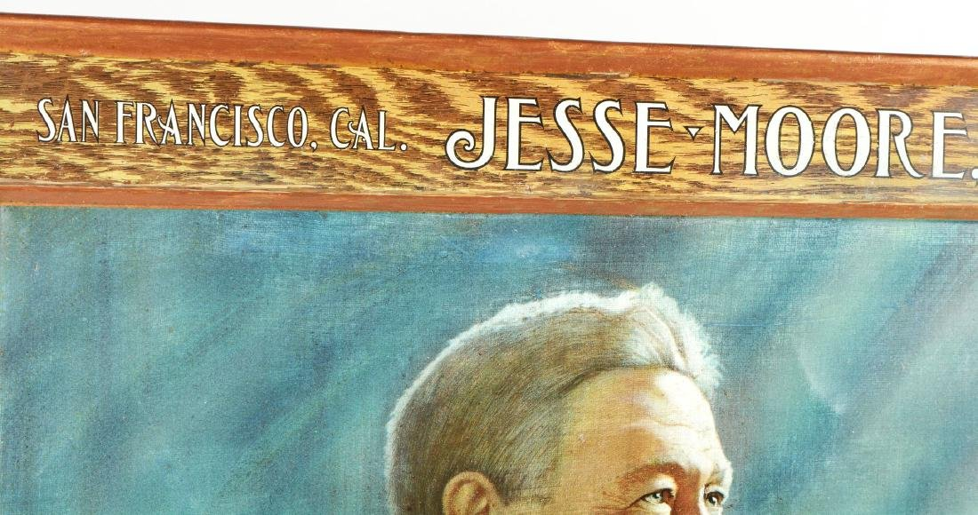 Jesse Moore Bourbon Lithograph On Tin. - 8