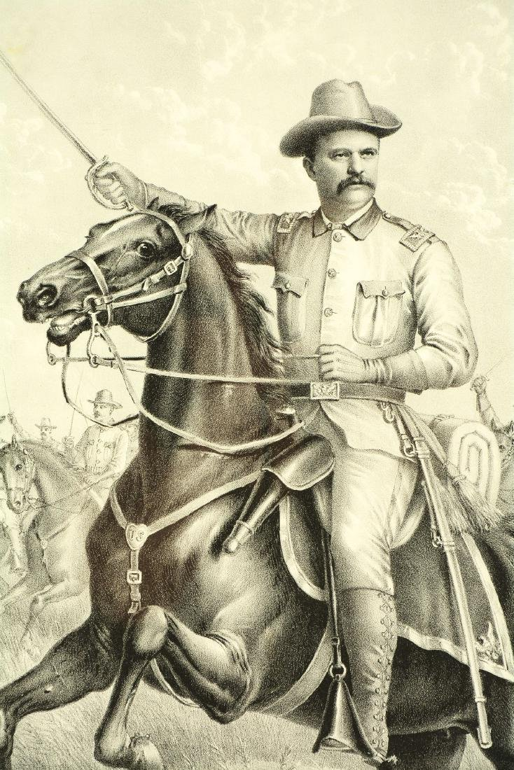 Framed Black And White Theodore Roosevelt Print. - 2