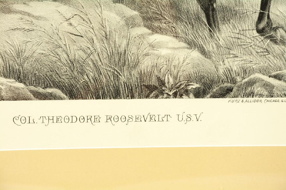 Framed Black And White Theodore Roosevelt Print. - 3