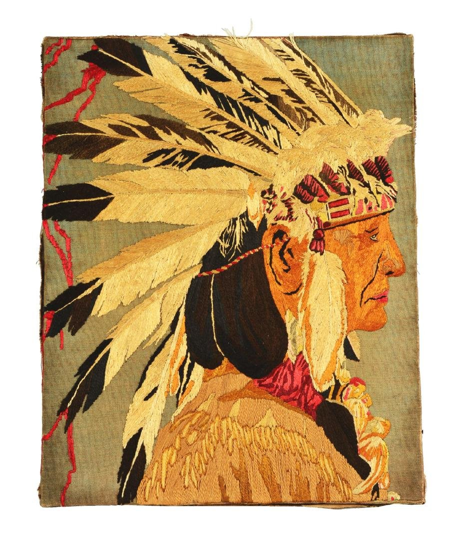 Native America Embroidered Canvas.