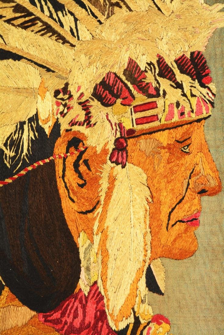 Native America Embroidered Canvas. - 2