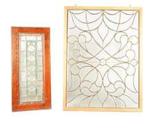 Lot Of 2: Glass Windows.