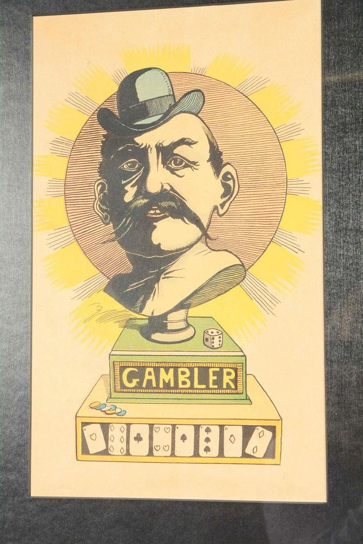 Lot Of 4: Caricatures Of Gamblers. - 5