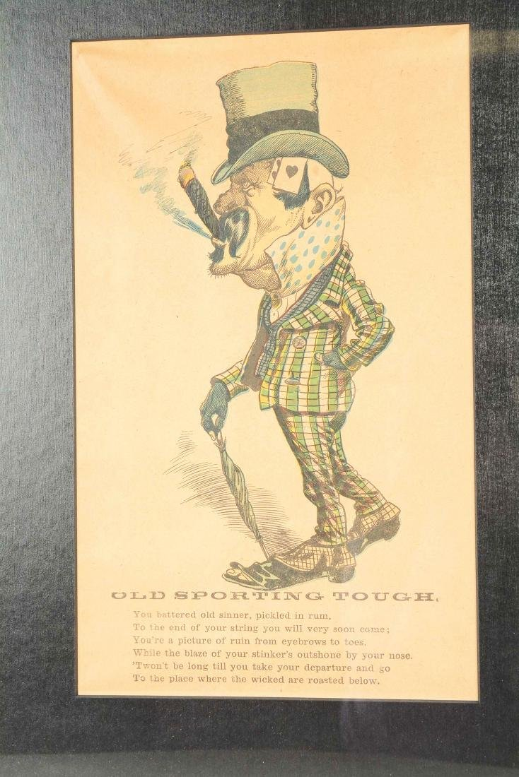 Lot Of 4: Caricatures Of Gamblers. - 7