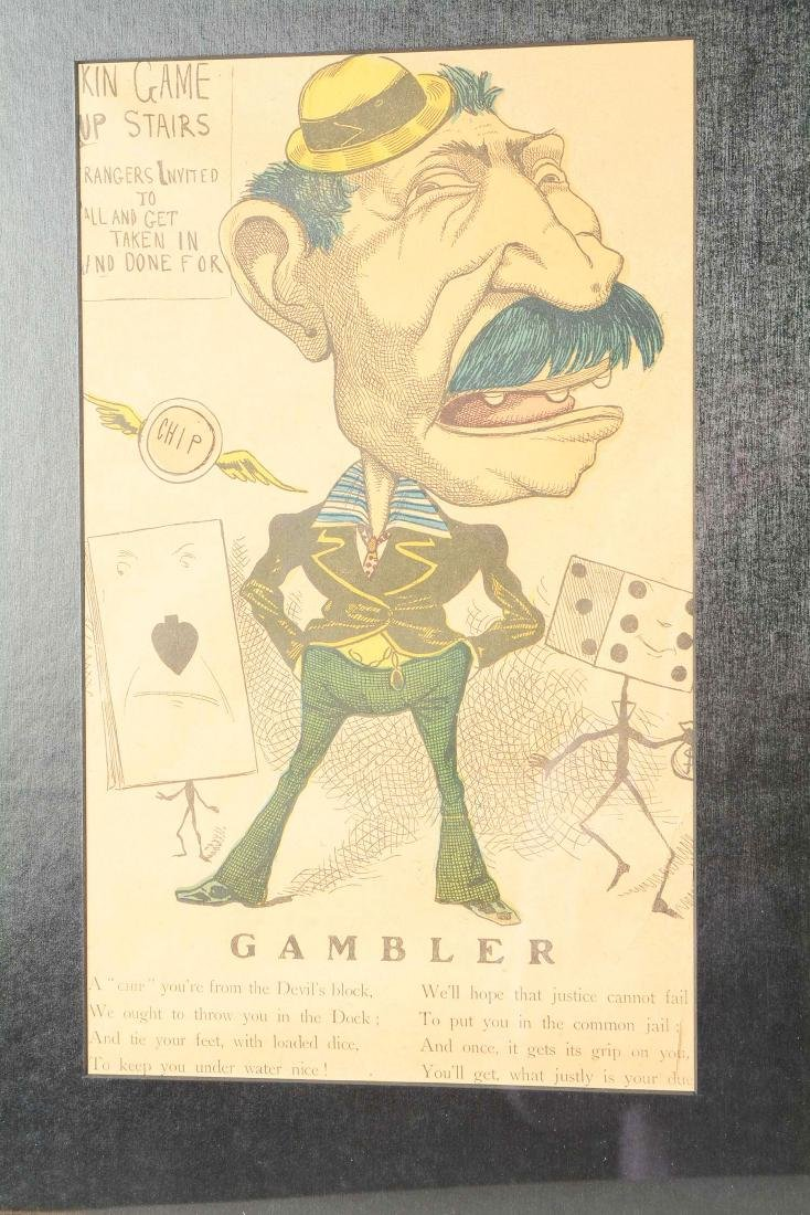 Lot Of 4: Caricatures Of Gamblers. - 9