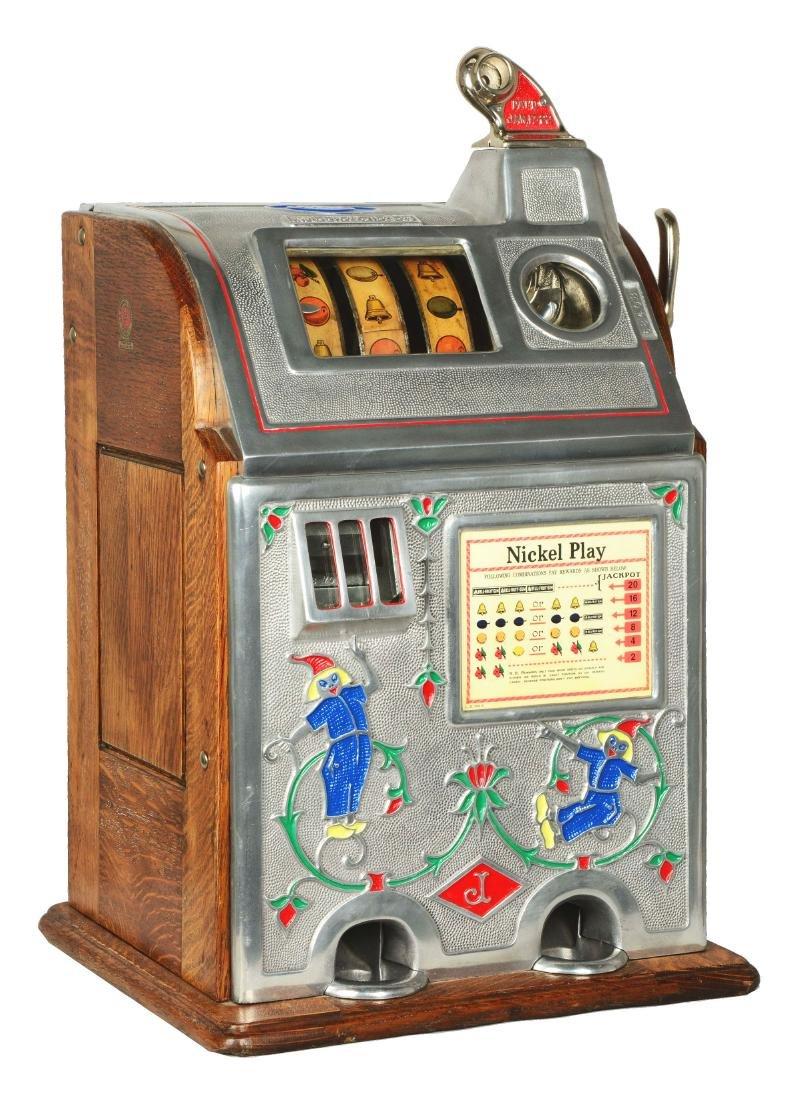 **5¢ O.D. Jennings Jackpot Dutch Boy Slot Machine.