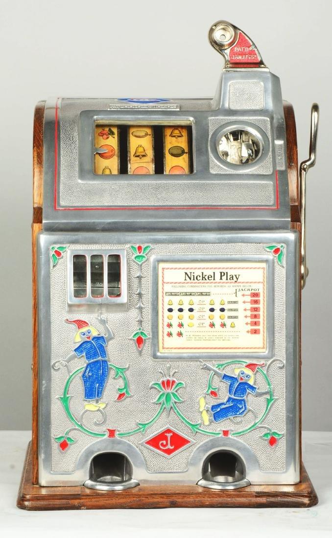 **5¢ O.D. Jennings Jackpot Dutch Boy Slot Machine. - 3