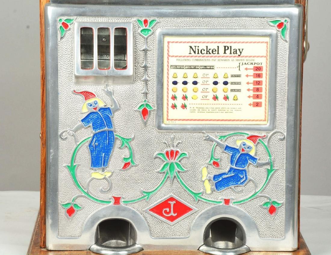 **5¢ O.D. Jennings Jackpot Dutch Boy Slot Machine. - 4