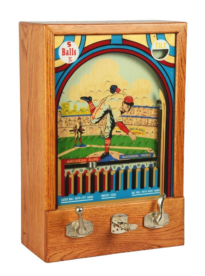 1¢ Munves Bat-A-Ball Arcade Game.