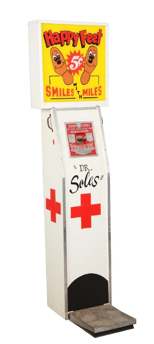 5¢ Exhibit Supply Co. The Vitalizer Amusement Machine.