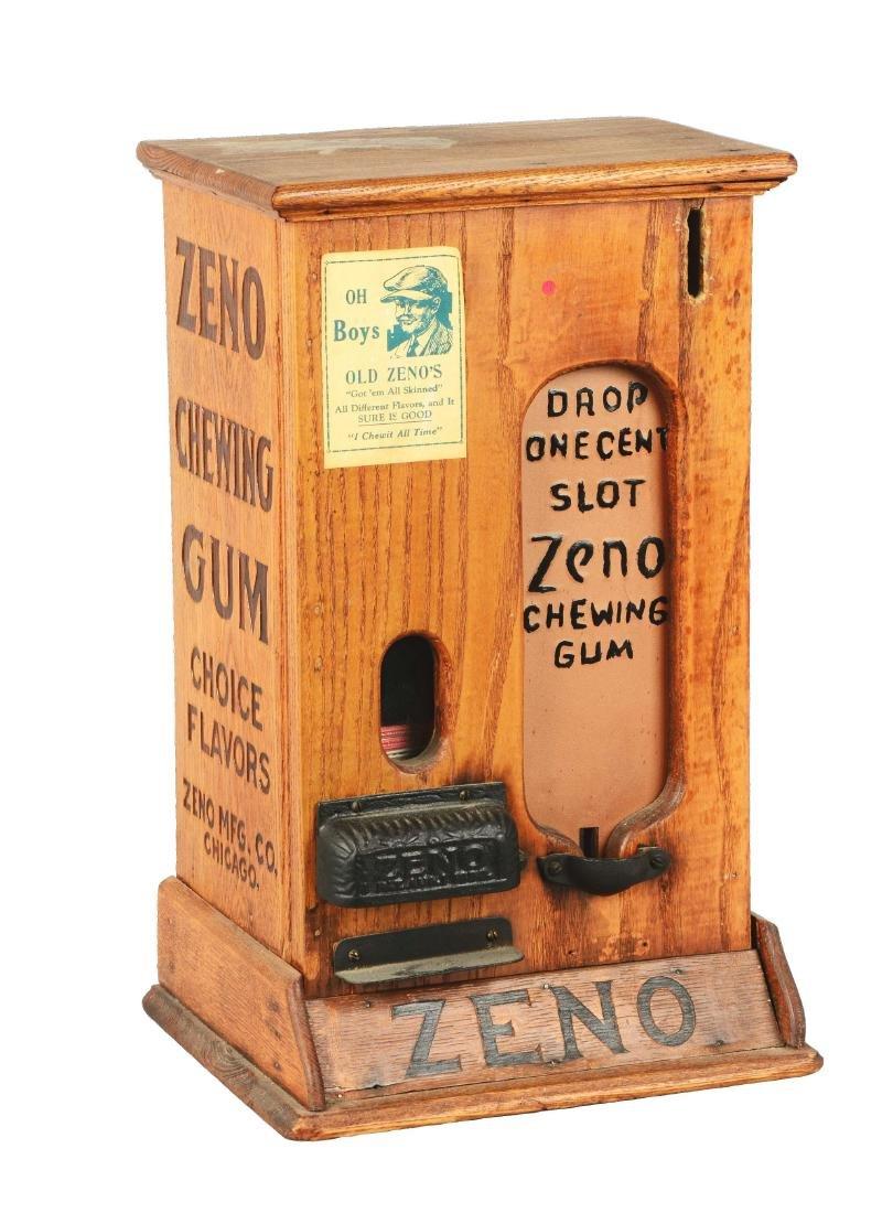 "Wooden ""OH Boys"" Zeno Chewing Gum Vendor."