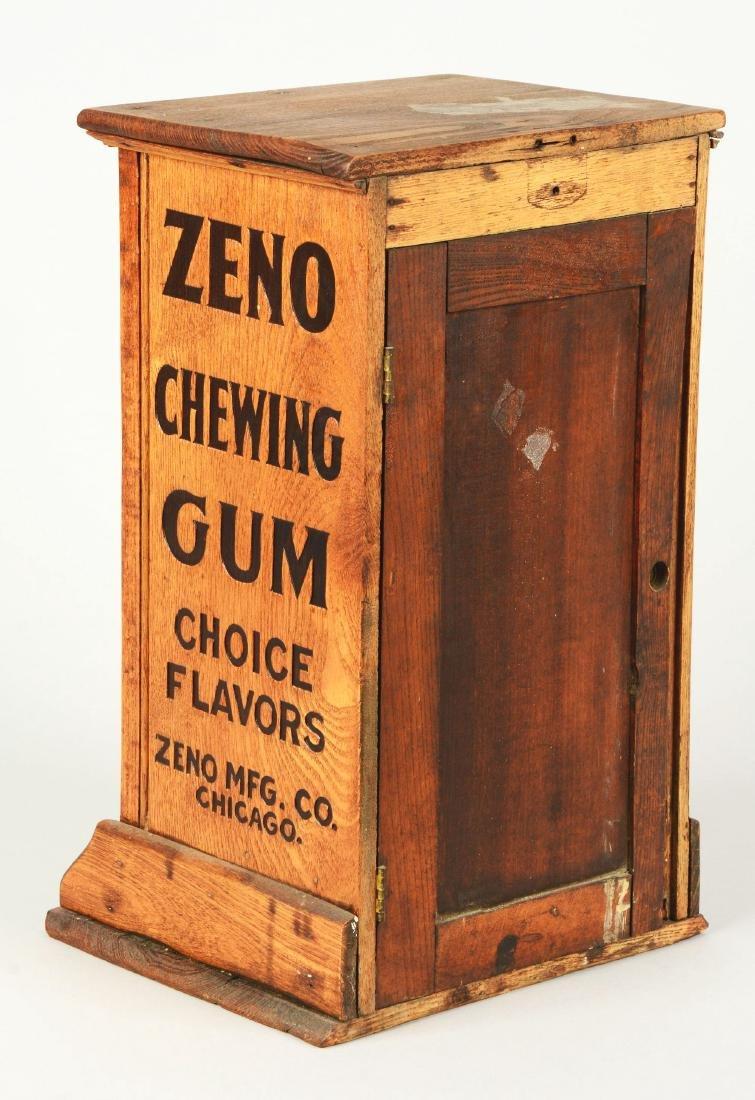 "Wooden ""OH Boys"" Zeno Chewing Gum Vendor. - 2"